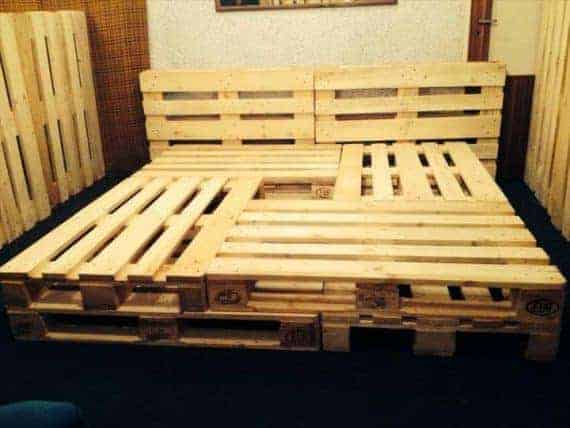 Luxury Pallet Bed Frame Design